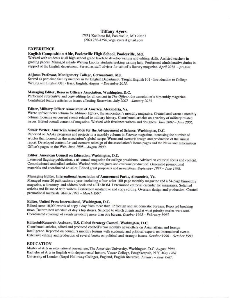 Tiffany Ayers - Virtual Assistant Jobs